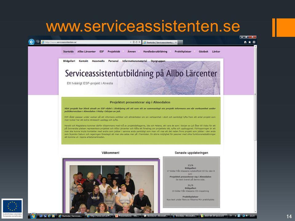 www.serviceassistenten.se 14