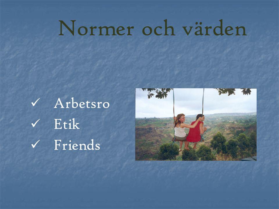 Arbetsro Etik Friends Normer och värden