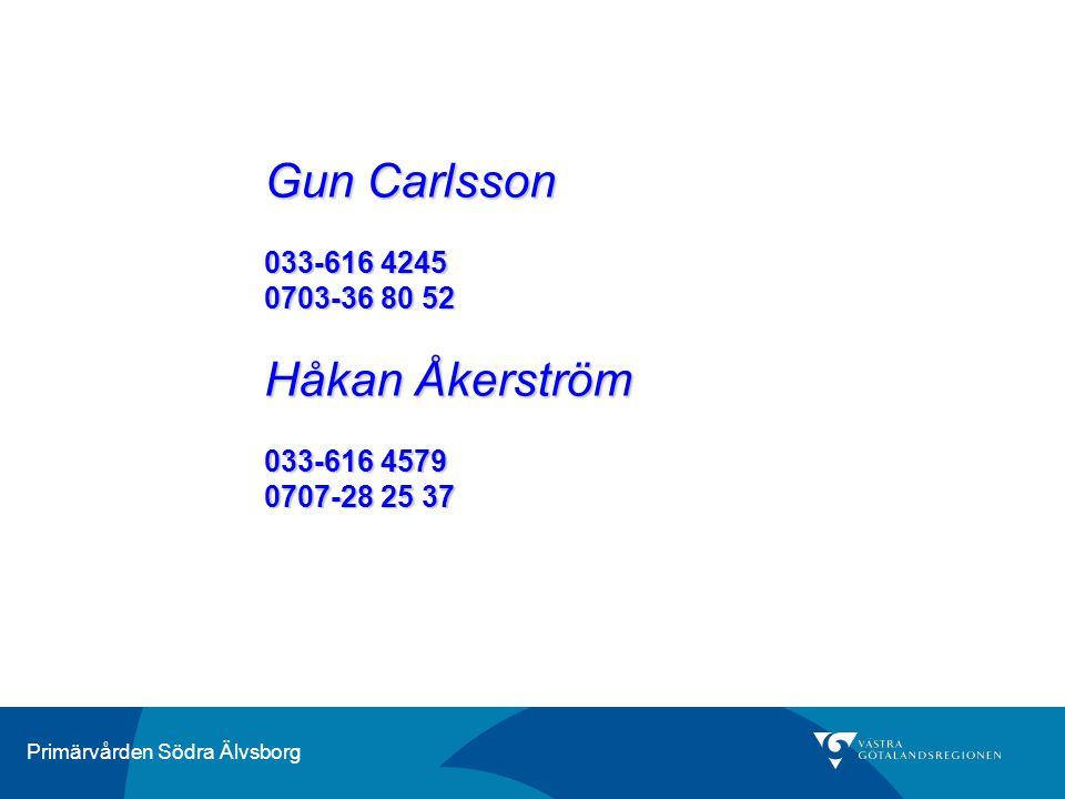 Gun Carlsson 033-616 4245 0703-36 80 52 Håkan Åkerström 033-616 4579 0707-28 25 37