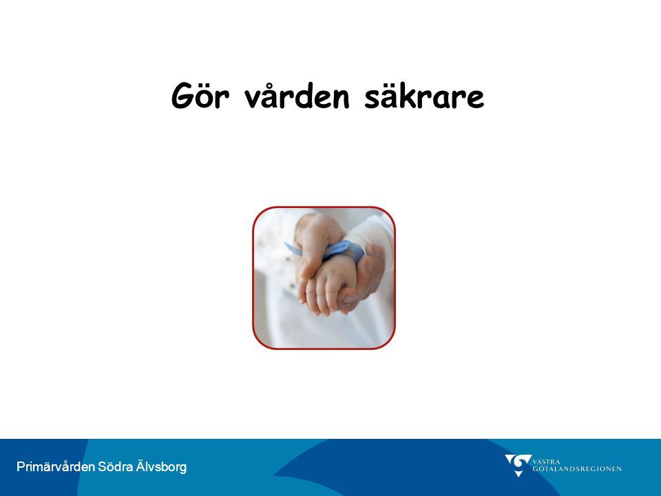 Primärvården Södra Älvsborg Människor gör fel för att de system, uppgifter och processer som de arbetar i är dåligt utformade.