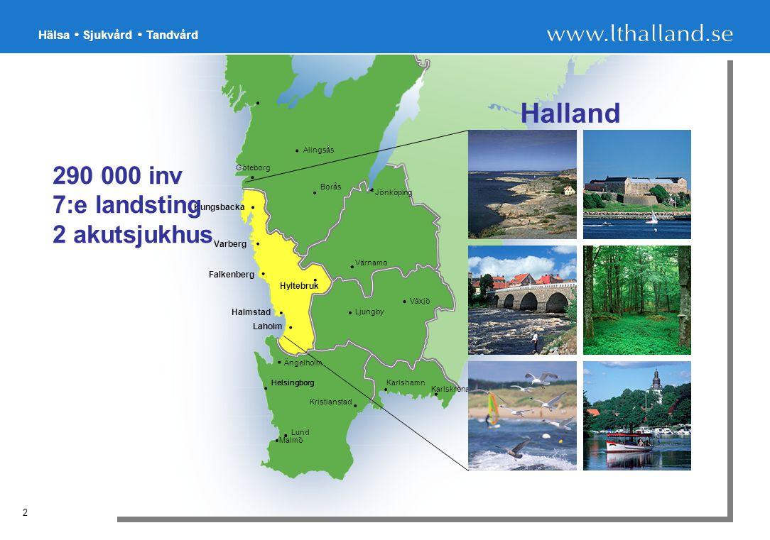 Hälsa Sjukvård Tandvård 13 Exempel på Högriskverksamhet Flyget Kärnkraften Spårbunden trafik Vägtrafiken Sjukvården