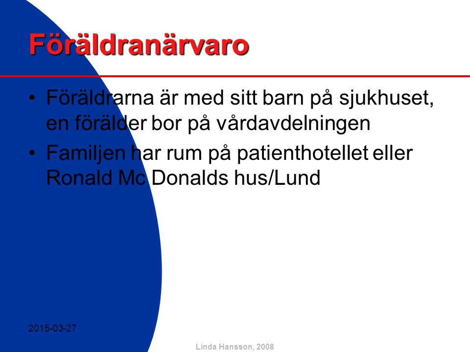 Linda Hansson, 2008 Hur uppfattar barn sin sjukdom.