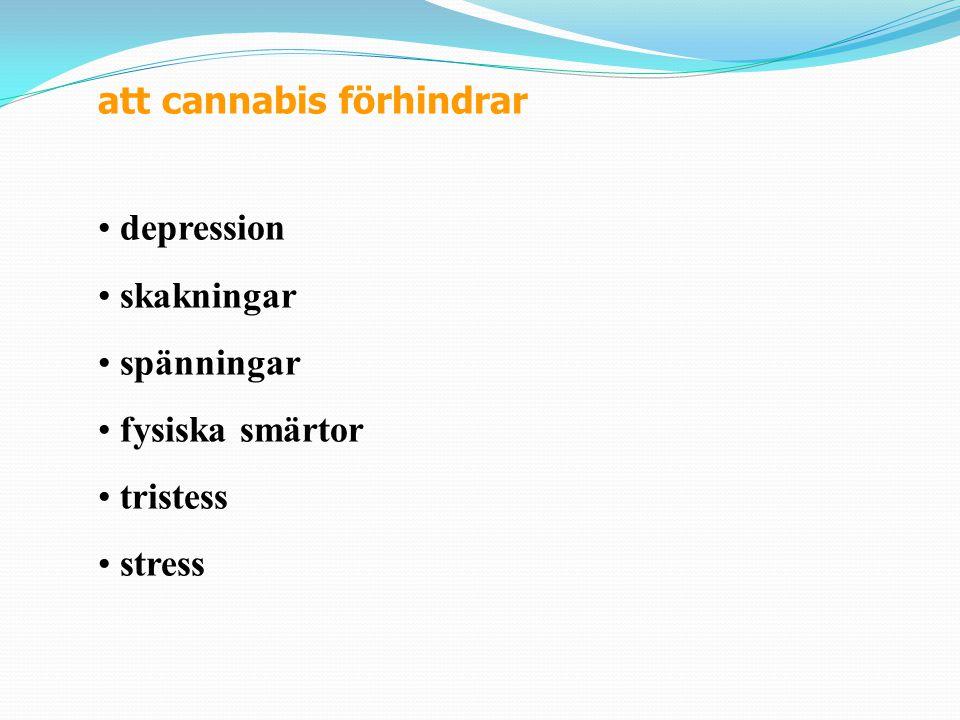 Ungdomar rapporterar att cannabis ger dem: insikt medvetenhet sexuella känslor självförtroende känsla av att vara vuxen kraftfull kreativ en känsla av att kunna tänka fina känslor en hjälp att fly undan en obehaglig situation en hjälp att lösa personliga problem en hjälp att somna