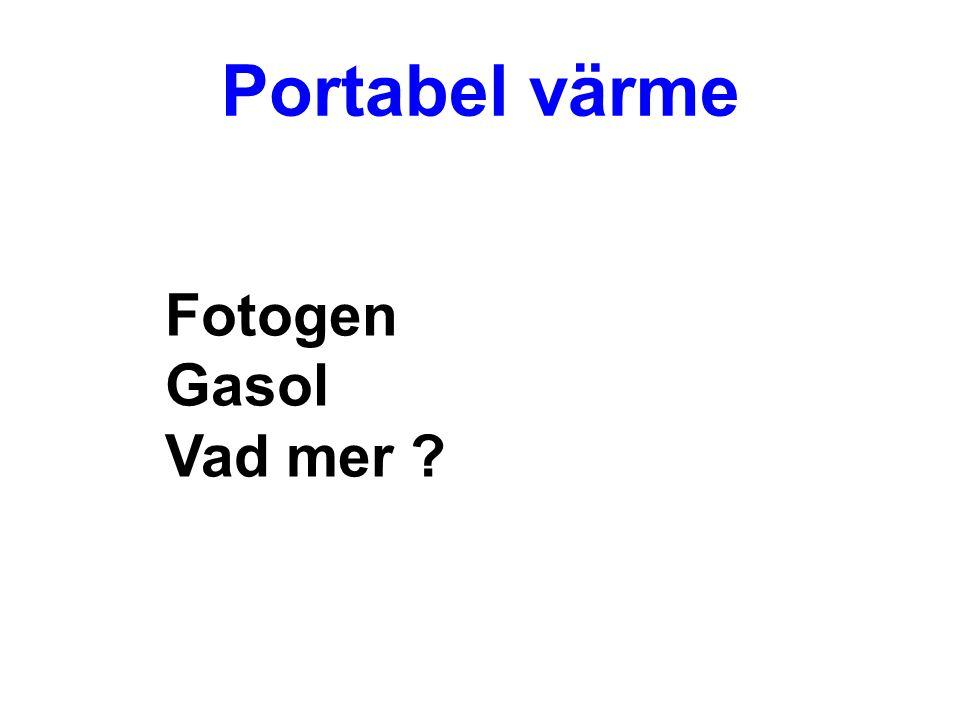 Portabel värme Fotogen Gasol Vad mer ?