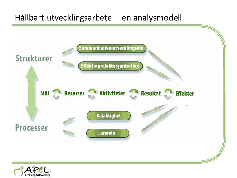 Hållbart utvecklingsarbete – en analysmodell
