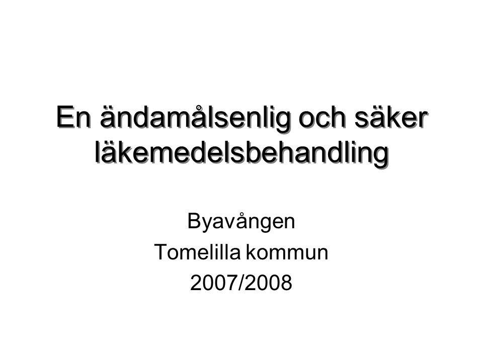 Genombrottprogram Via utvecklingscentrum Region Skåne Inriktning äldre och läkemedel Kunskap om metoden + starta upp ett patientfokuserat förbättringsarbete Fyra lärandeseminarium Handledning PGSA eller PDSA - verktyget