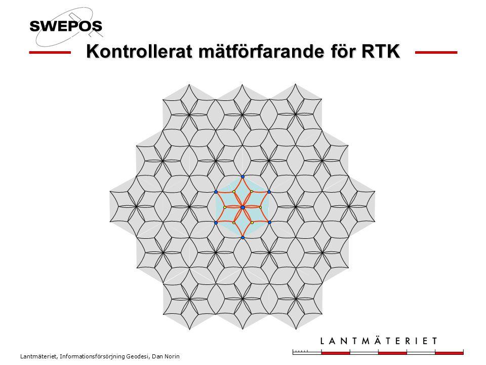 Lantmäteriet, Informationsförsörjning Geodesi, Dan Norin Kontrollerat mätförfarande för RTK