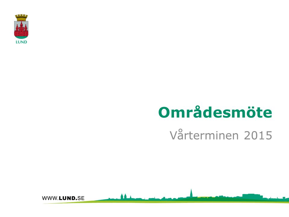 Områdesmöte Vårterminen 2015