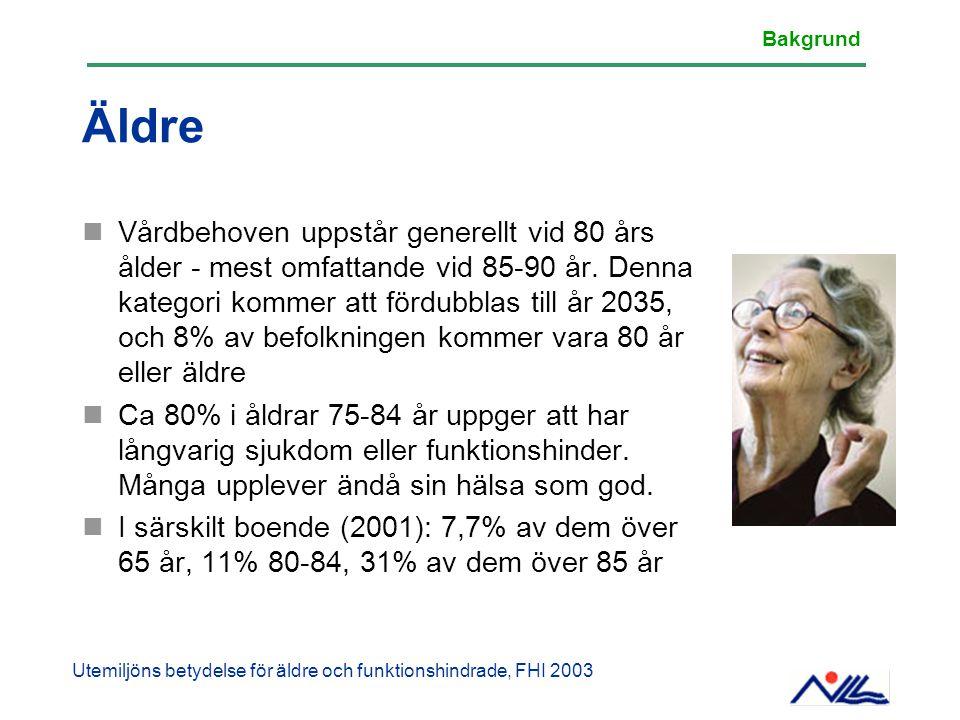 Äldre Vårdbehoven uppstår generellt vid 80 års ålder - mest omfattande vid 85-90 år. Denna kategori kommer att fördubblas till år 2035, och 8% av befo