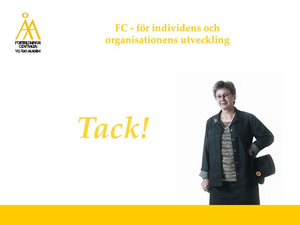 FC - för individens och organisationens utveckling Tack!