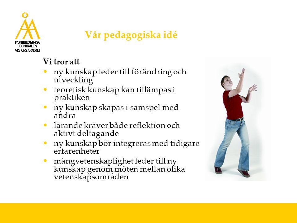 Fortbildningscentralen i Arken Arken är ÅA:s nya campusområde för Humaniora FC flyttade in i nya utrymmen i Arken, februari 2004 FC-auditorier: aud.