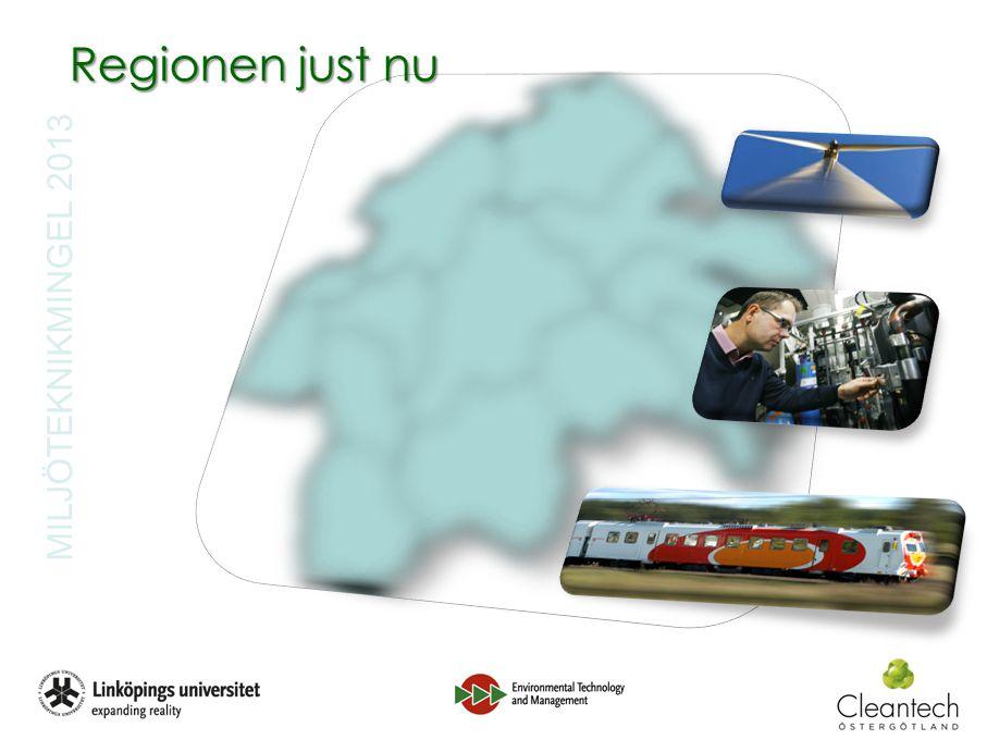 MILJÖTEKNIKMINGEL 2013 Regionen just nu Ökat behov av miljöteknik skapar nya affärsarenornya affärsarenor fler potentiella affärerfler potentiella affärer