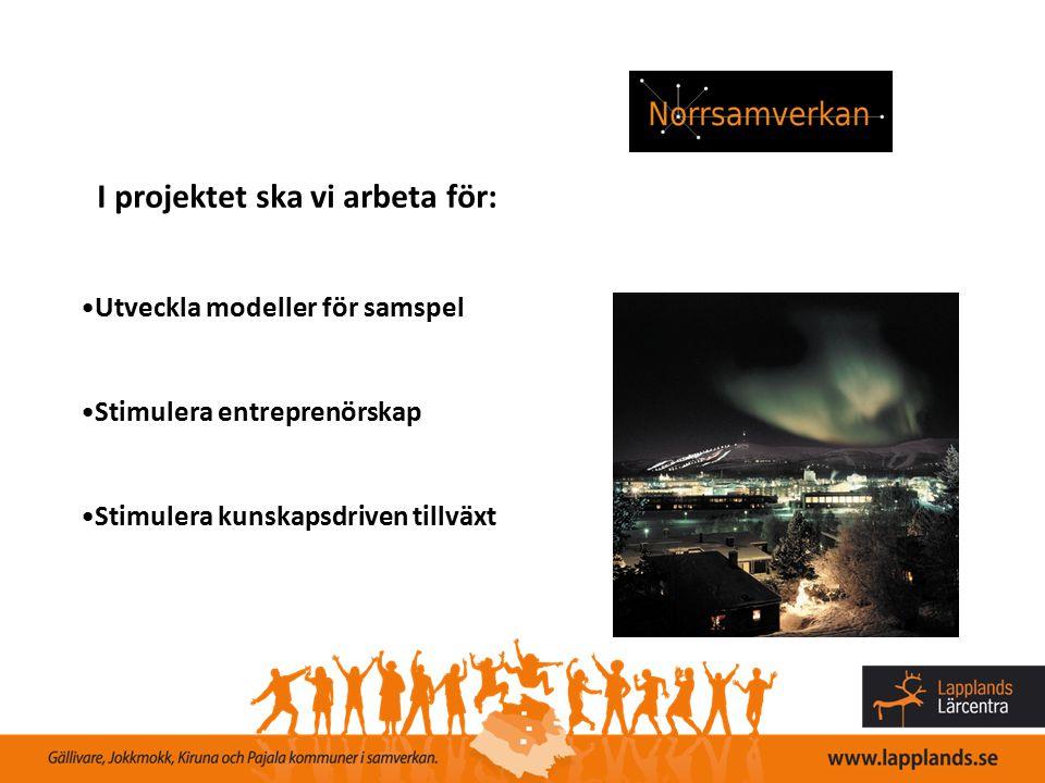 Genomförda/pågående aktiviteter Utbildningar; - Ledarutbildning för arbetsledare - Interaktiv säkerhetsutbildning, inriktning personlig skyddsutrustning & ergonomi - Slitbeständigt stål (under utveckling) - Driftunderhåll (under utveckling) - Projektledning (under utveckling) Seminarier/konferenser - Meän foorum - Kunskap utan gränser – nyckeln till en gemensam arbetsmarknad - Kompetensförsörjning & samverkan (under planering)