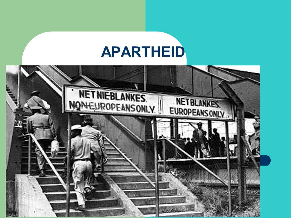 Historik Apartheid lagfästes 1948, och segregeringen beskrevs in i minsta detalj.