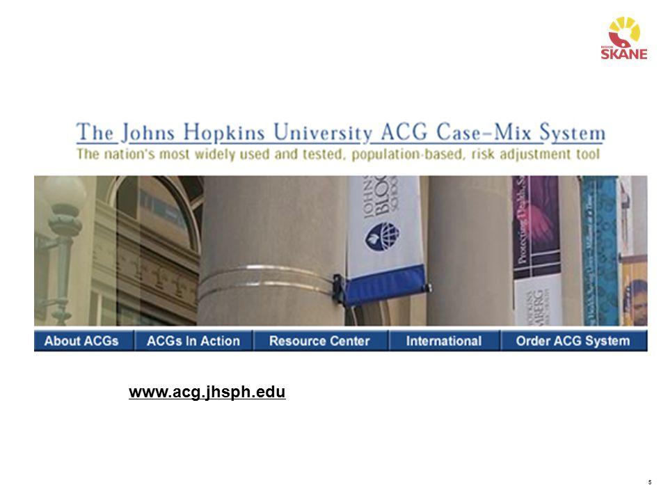 5 www.acg.jhsph.edu