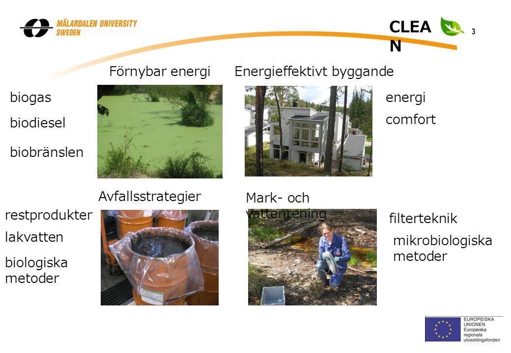 3 2007 CLEA N Avfallsstrategier Mark- och vattenrening Förnybar energiEnergieffektivt byggande biogas biodiesel biobränslen biologiska metoder lakvatten restprodukter comfort energi mikrobiologiska metoder filterteknik