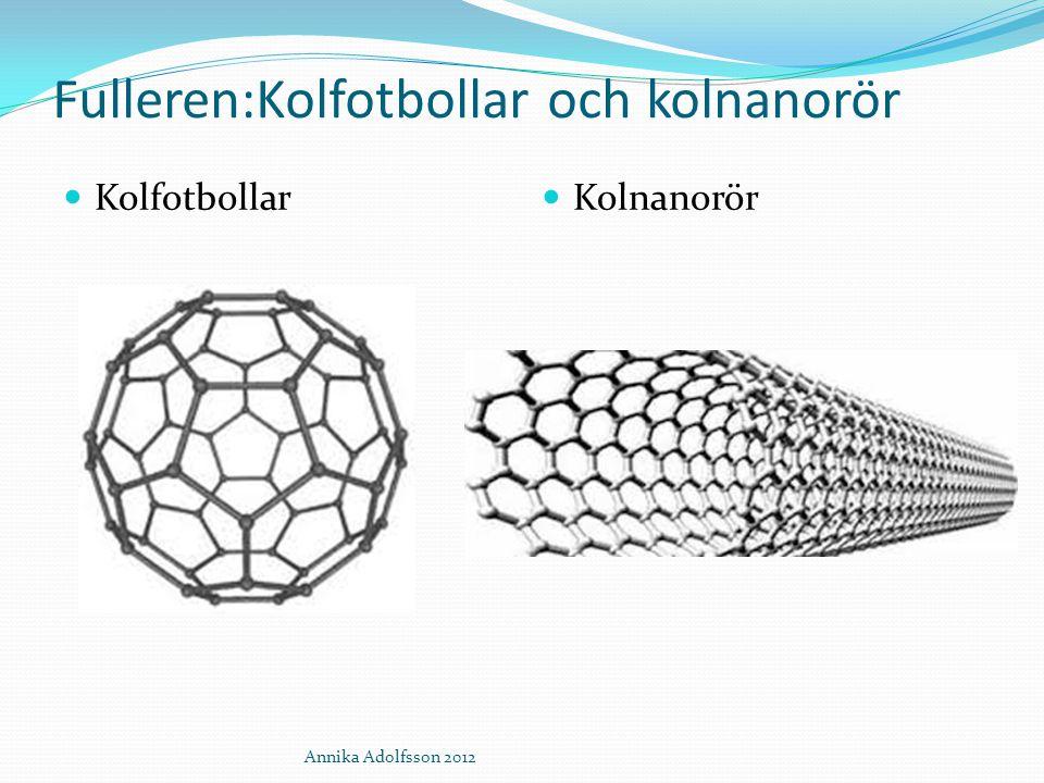 Fulleren:Kolfotbollar och kolnanorör Kolfotbollar Kolnanorör Annika Adolfsson 2012