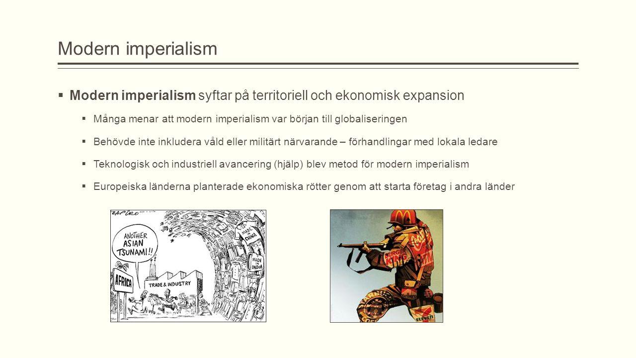 Vad är kopplingen mellan imperialism och nationalism.