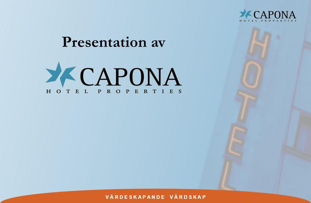 V Ä R D E S K A P A N D E V Ä R D S K A P Disposition w Kort om Capona w Affärsidé, mål och strategier.