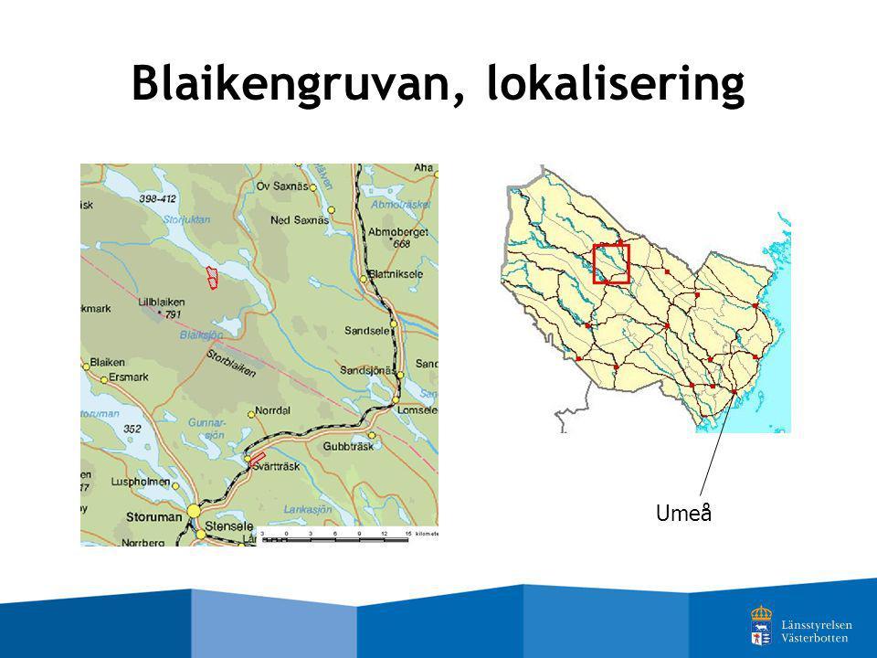 Umeå Blaikengruvan, lokalisering