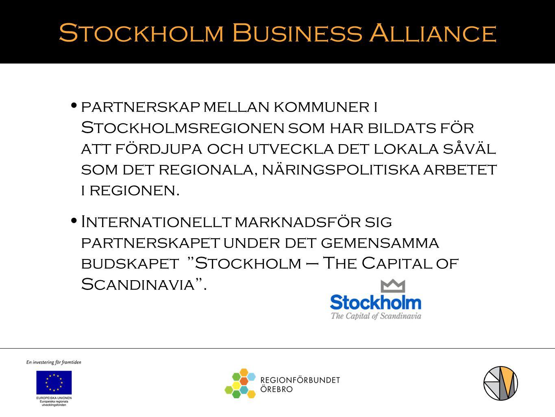 Stockholm Business Alliance partnerskap mellan kommuner i Stockholmsregionen som har bildats för att fördjupa och utveckla det lokala såväl som det re