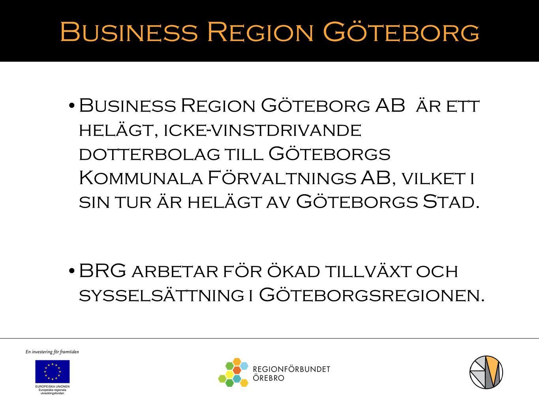 Business Region Göteborg Business Region Göteborg AB är ett helägt, icke-vinstdrivande dotterbolag till Göteborgs Kommunala Förvaltnings AB, vilket i