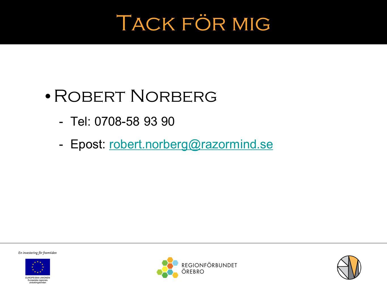 Tack för mig Robert Norberg  Tel: 0708-58 93 90  Epost: robert.norberg@razormind.serobert.norberg@razormind.se