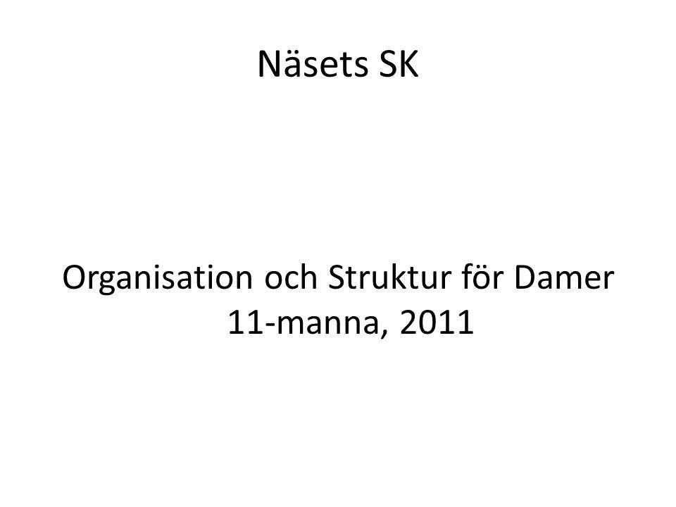 Näsets SK Organisation och Struktur för Damer 11-manna, 2011