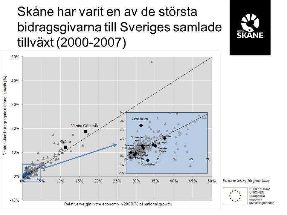 Skånes befolkning ökar Inflyttning till och från Skåne utifrån ursprung och ålder