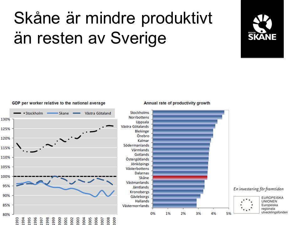 Skåne tillhör en exklusiv skara av kunskaps- och teknologinav i världen
