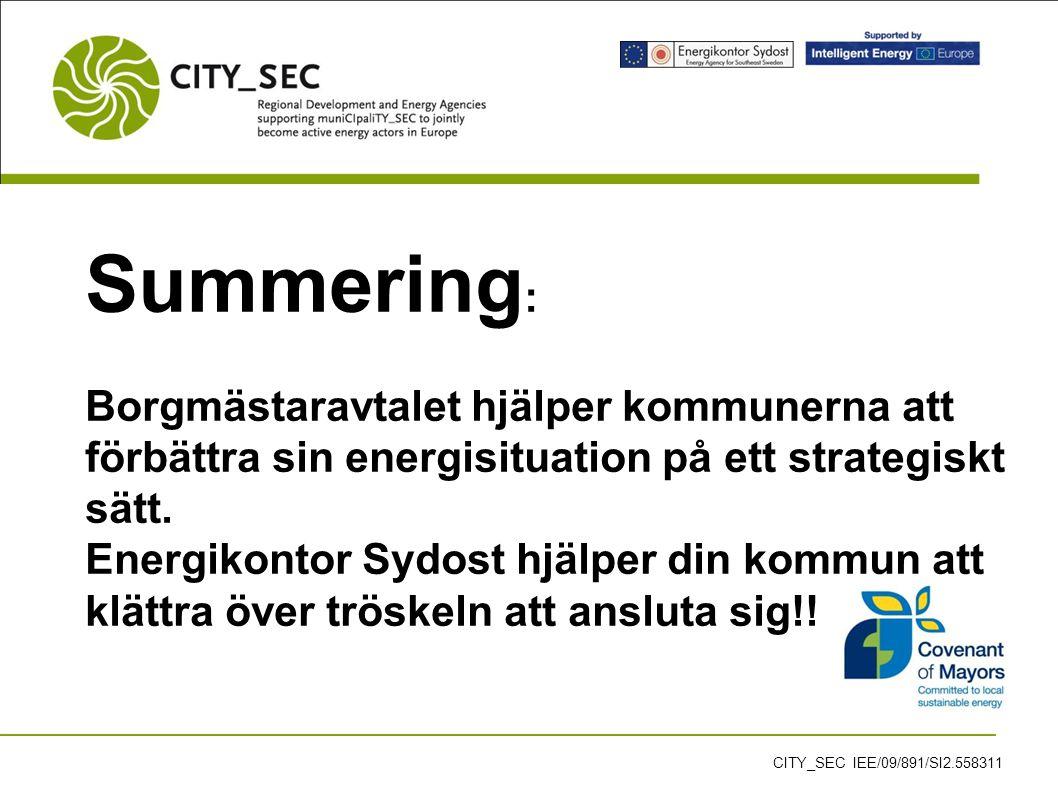 Summering : Borgmästaravtalet hjälper kommunerna att förbättra sin energisituation på ett strategiskt sätt.