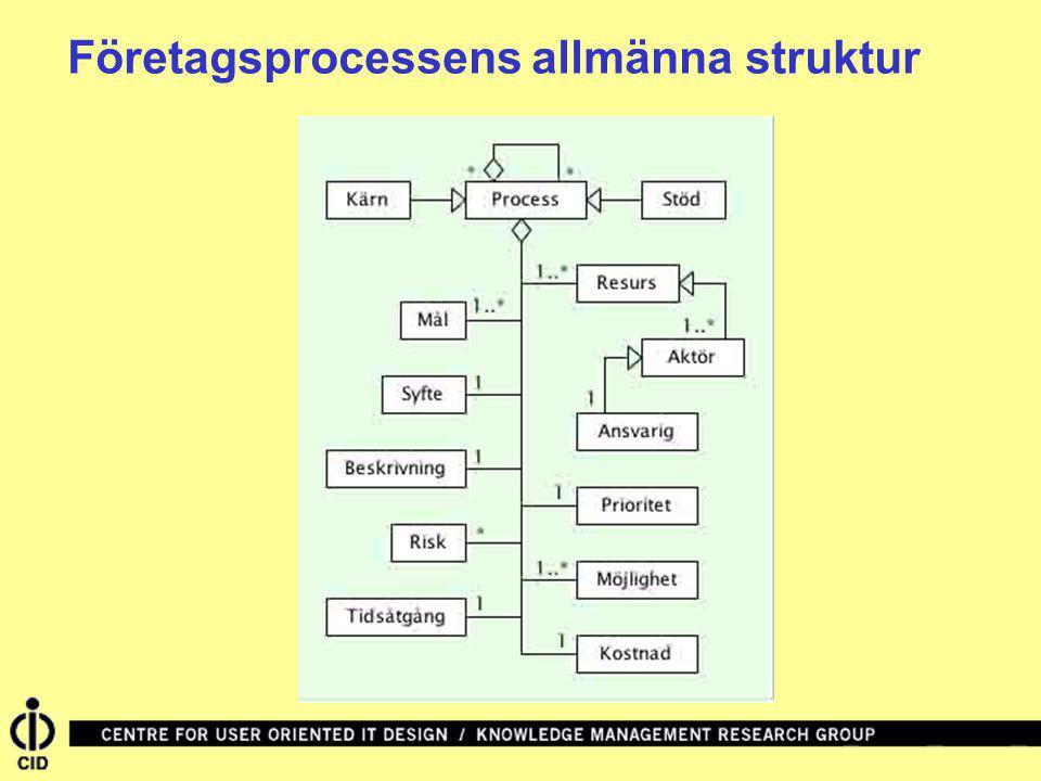 Företagsprocessens allmänna struktur