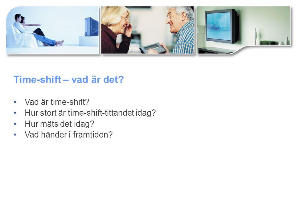 Time-shift – vad är det. Vad är time-shift. Hur stort är time-shift-tittandet idag.