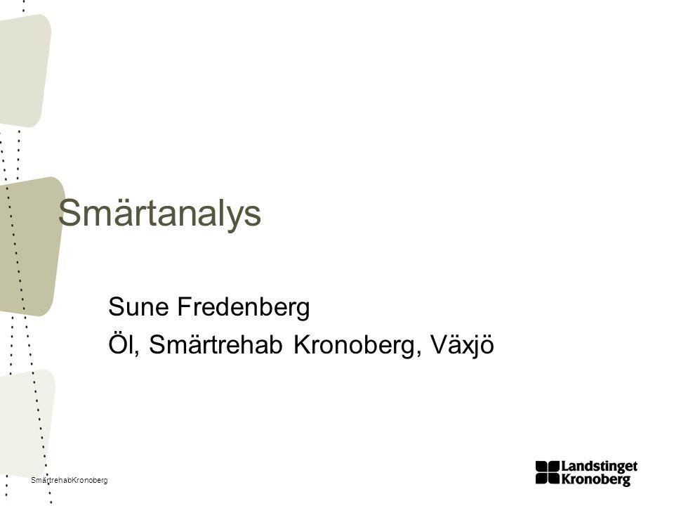 SmärtrehabKronoberg Smärtanalys Sune Fredenberg Öl, Smärtrehab Kronoberg, Växjö