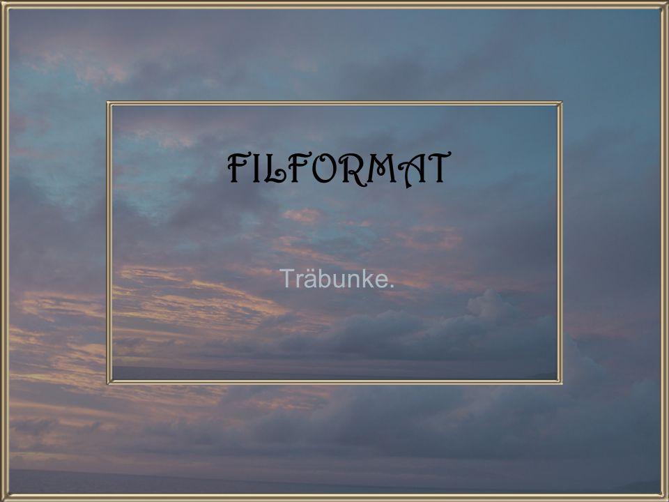FILFORMAT Träbunke.