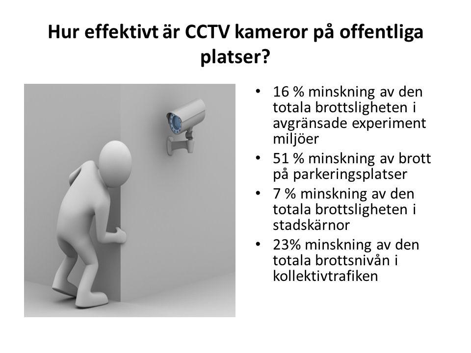 Hur effektivt är CCTV kameror på offentliga platser.