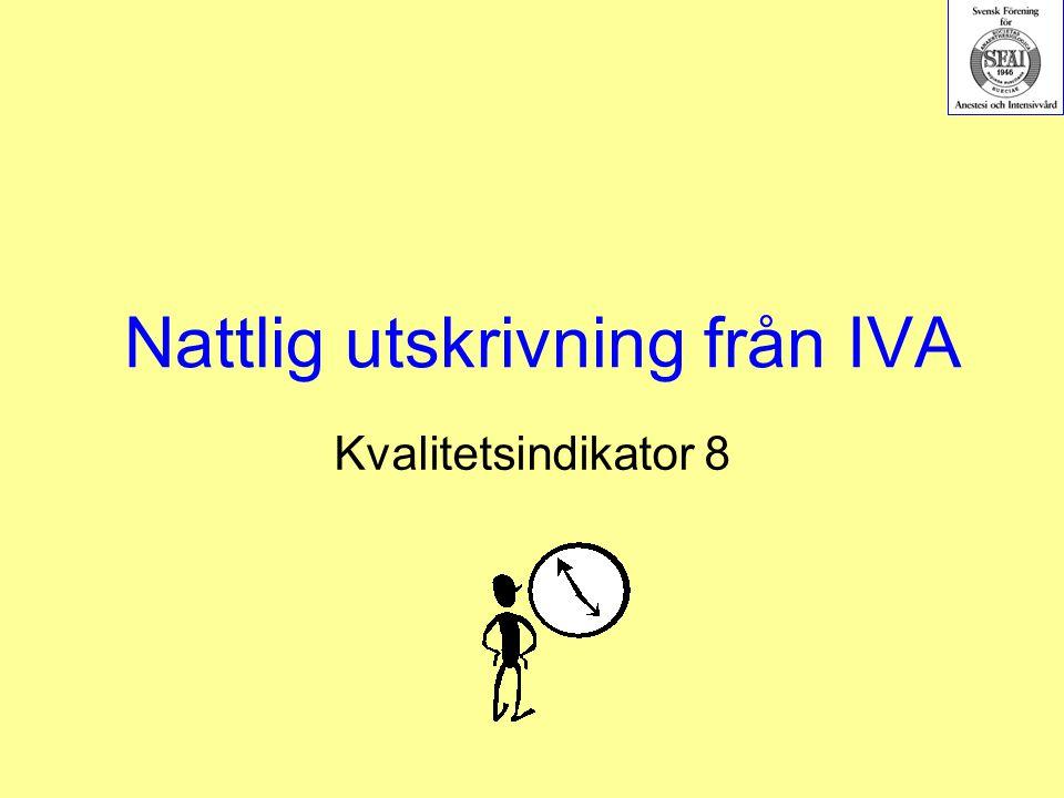 Nattlig utskrivning från IVA Kvalitetsindikator 8
