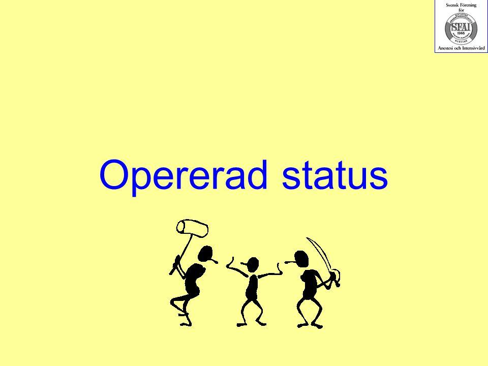 Opererad status