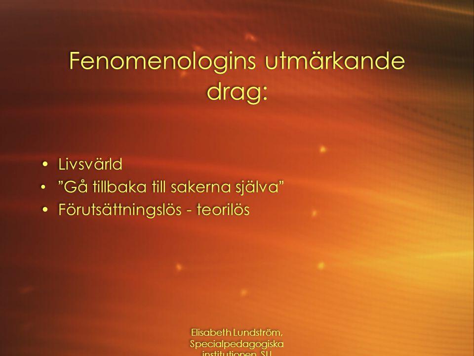 Båda påverkar det som framkommer  Det som sker mellan två seenden (Kvale, 1997)  Språkhändelser (Mishler, 1986)  Det som sker mellan två seenden (Kvale, 1997)  Språkhändelser (Mishler, 1986) Elisabeth Lundström, Specialpedagogiska institutionen, SU