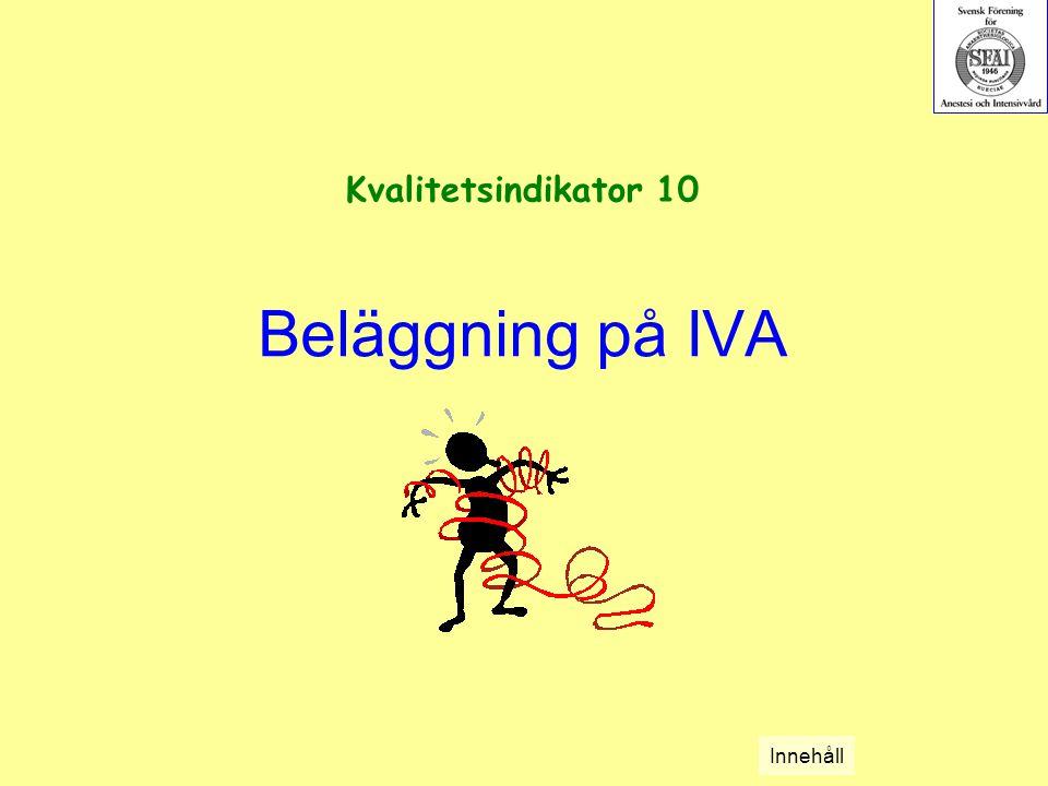 Beläggning på IVA Kvalitetsindikator 10 Innehåll