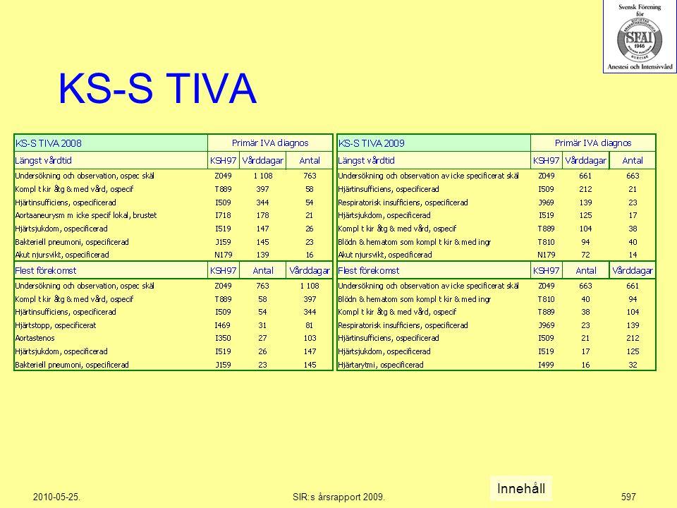 2010-05-25.SIR:s årsrapport 2009.597 KS-S TIVA Innehåll