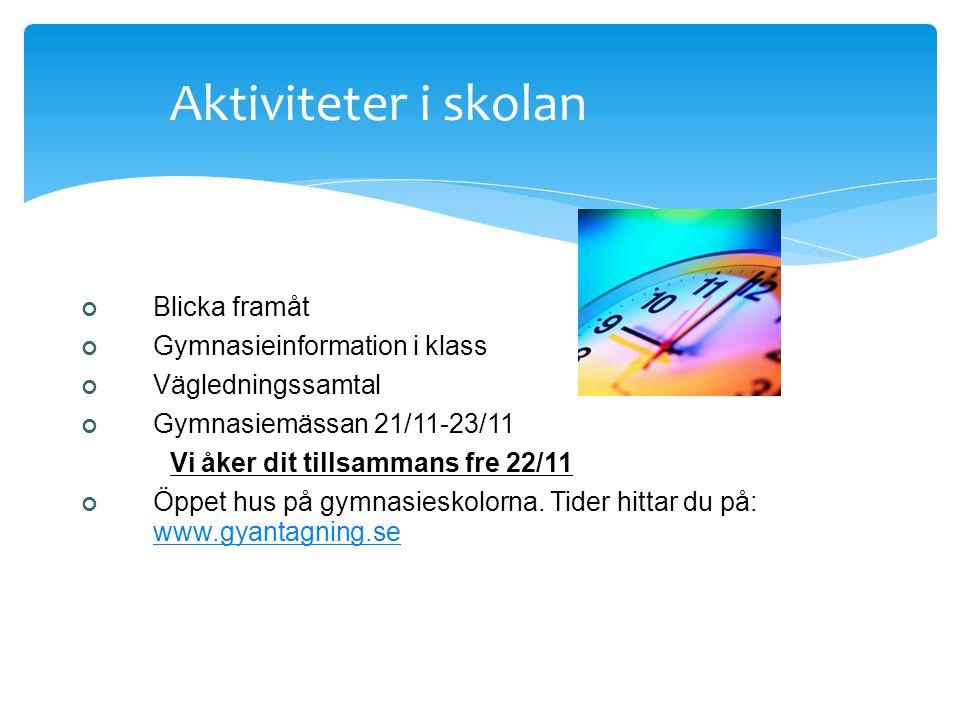 Valet till gymnasiet Tina Jacobsson Studie- och yrkesvägledare Tappströmsskolan Mån-tors Tfn: 560 395 14 tina.jacobsson@skolor.ekero.se