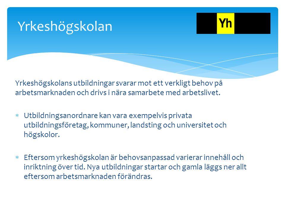 Vuxenutbildning Yrkeshög skola Folkhögskola Högskola / Universit et Studier efter gymnasiet?
