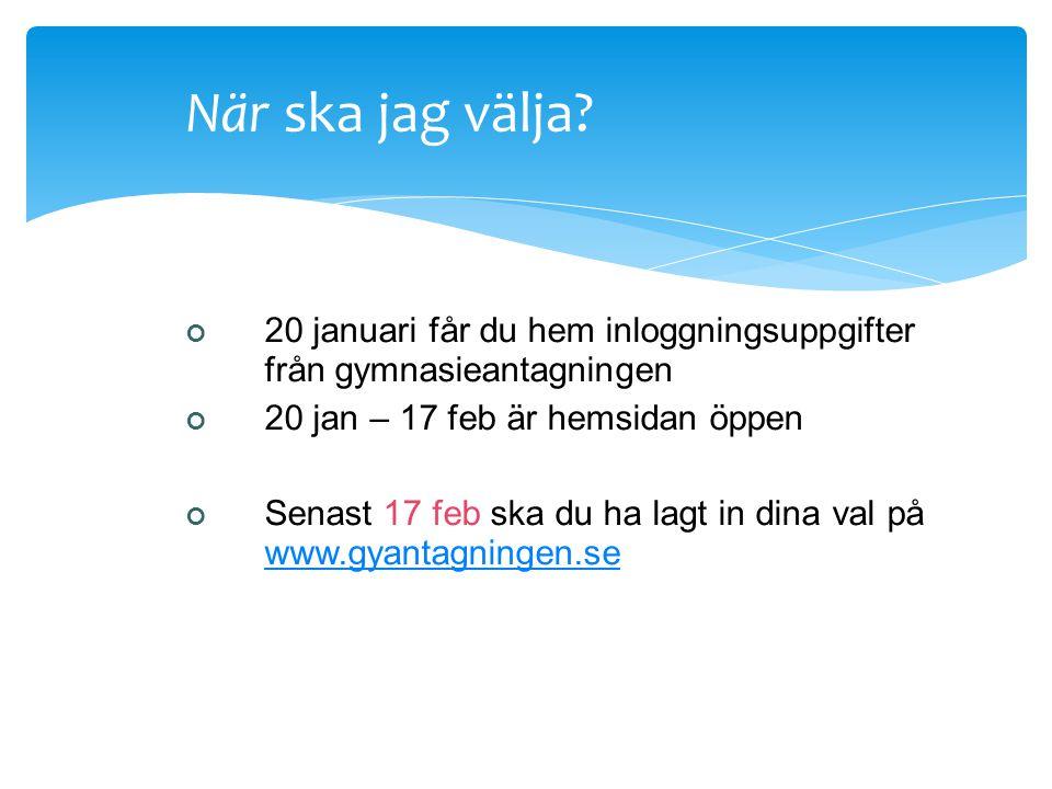 Aktiviteter i skolan Blicka framåt Gymnasieinformation i klass Vägledningssamtal Gymnasiemässan 21/11-23/11 Vi åker dit tillsammans fre 22/11 Öppet hu