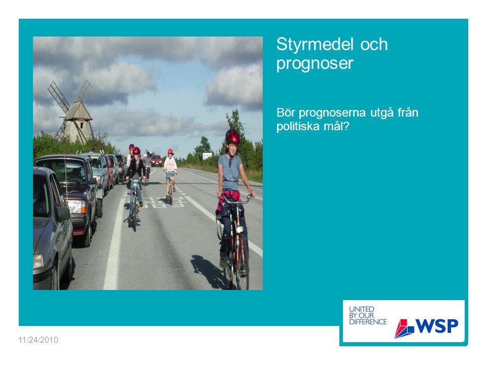 Styrmedel och prognoser Bör prognoserna utgå från politiska mål 11/24/2010