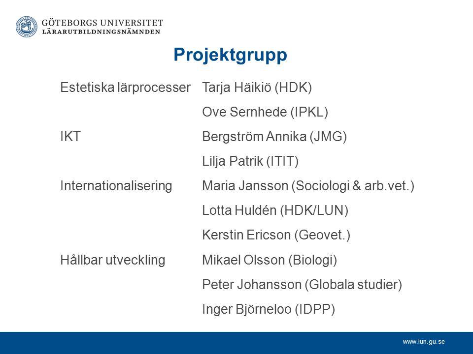 www.lun.gu.se Projekttid 2012-07-01 – 2013-06-30