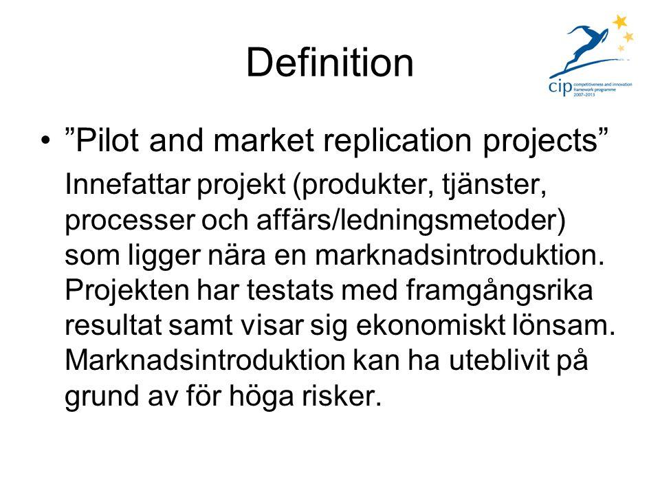 Prioriteringar – 2008 För 2008 prioriterades fyra områden (för 2009 gäller densamma även om vissa underrubriker kan ändras) 1) Återvinnig av material - Förbättrad avfallshantering - Miljövänlig design och produktion av konsumtionsvaror - Bättre återvinningsprocesser inom specifika sektorer ex.