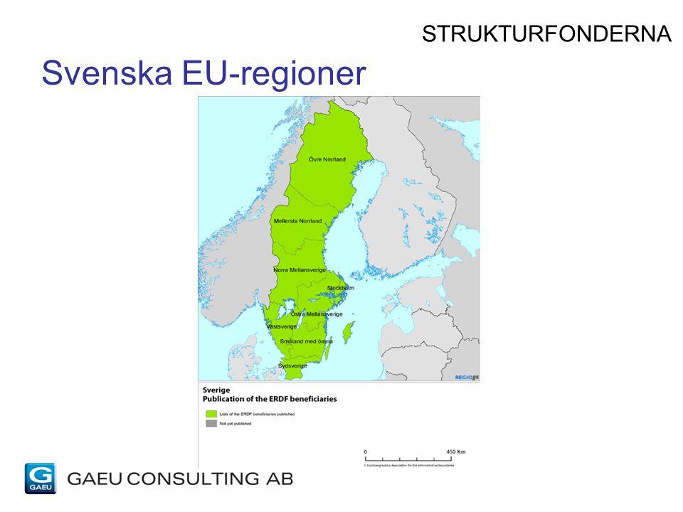 Svenska EU-regioner STRUKTURFONDERNA