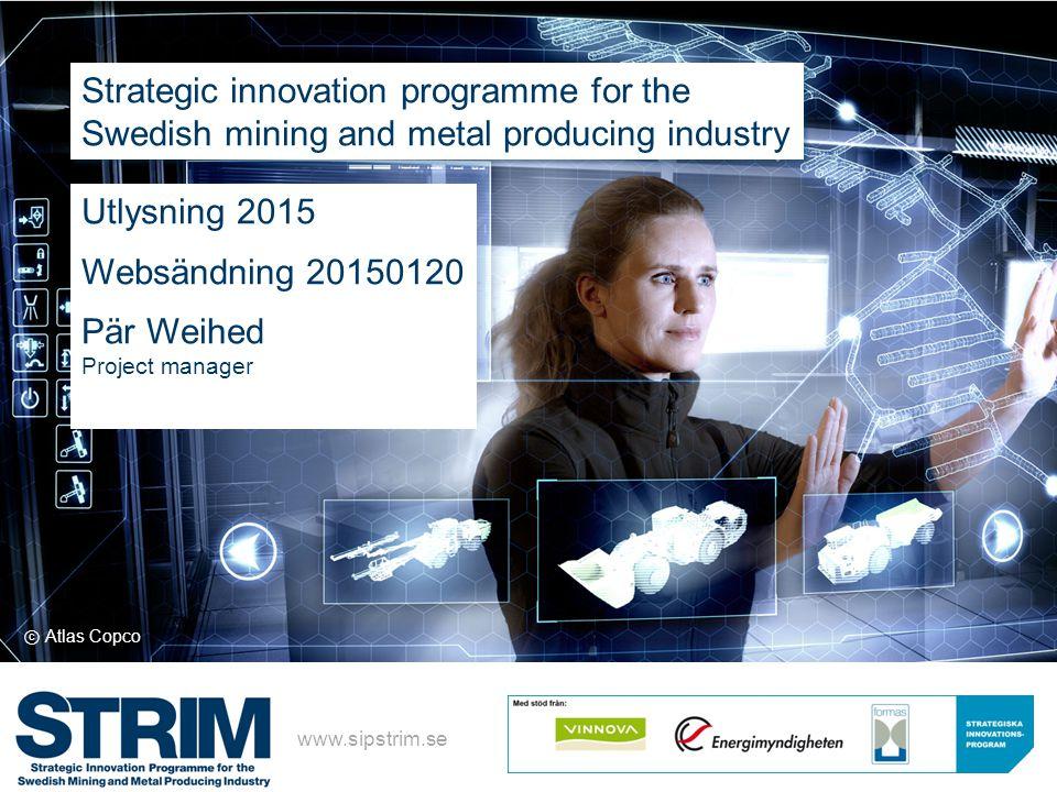 Strategic innovation agenda Strategic innovation programme (SIP)