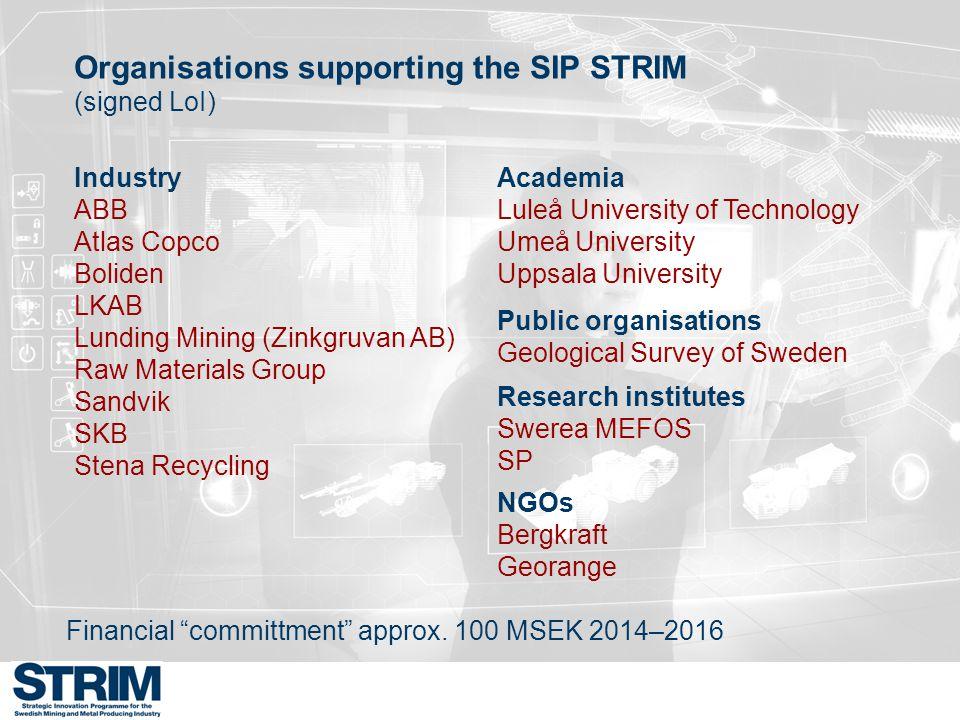 Bedömningsprocessen Vetenskaplig kvalitet, innovationspotential, positiv påverkan på konkurrenskraften inom den svenska gruv- och mineralsektorn samt industriellt samarbete och mervärde bedöms.